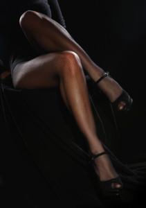 Beautiful female legs in pantyhose