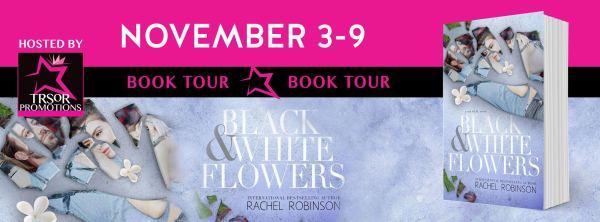 Black & White Flowers BT Banner